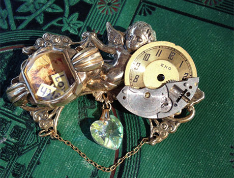 Vintage Watch Part Steam Punk Jewelry