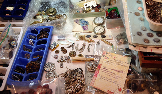 jewelry studio work area